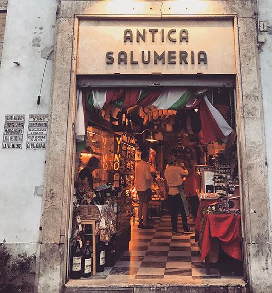 Antica salumeria rome italie exterieur