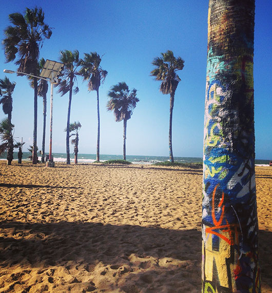 Venice Beach Summer Pacific ocean graffiti street art los angeles california