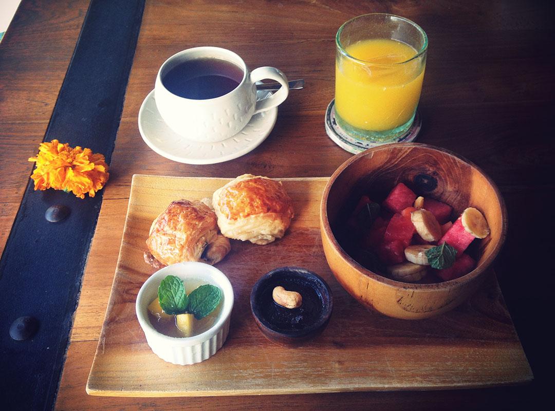 Breakfast at Blue Karma Resort Bali Ubud Indonesia