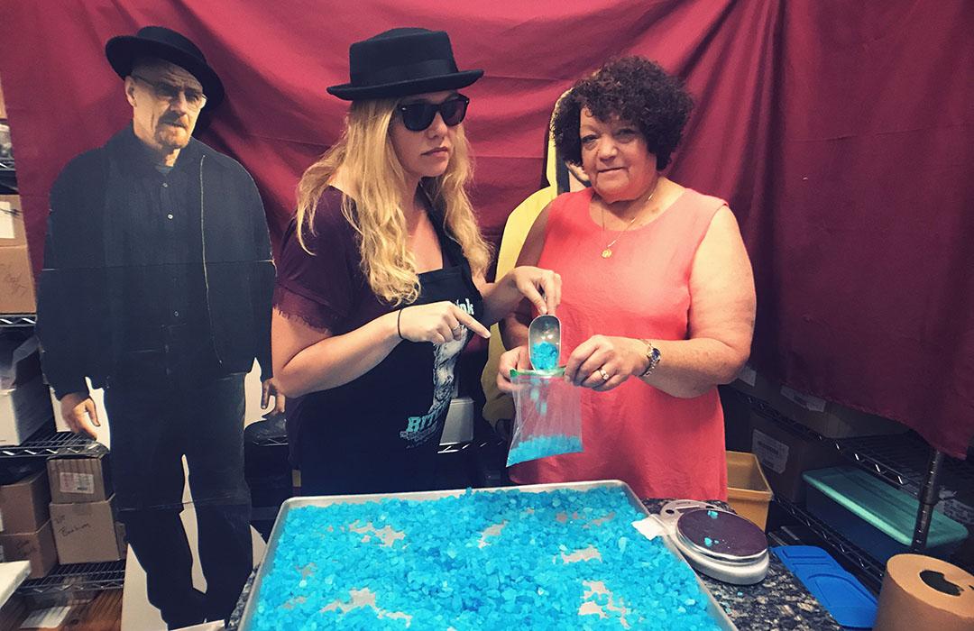 Breaking bad tour Albuquerque lieux de tournage blue meth candy lady