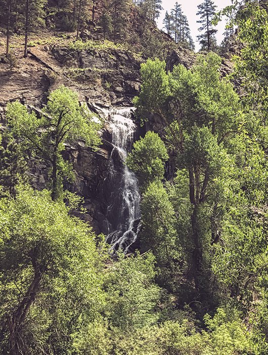 Black Hills South Dakota du Sud Spearfish Canyon Bridal Veil falls