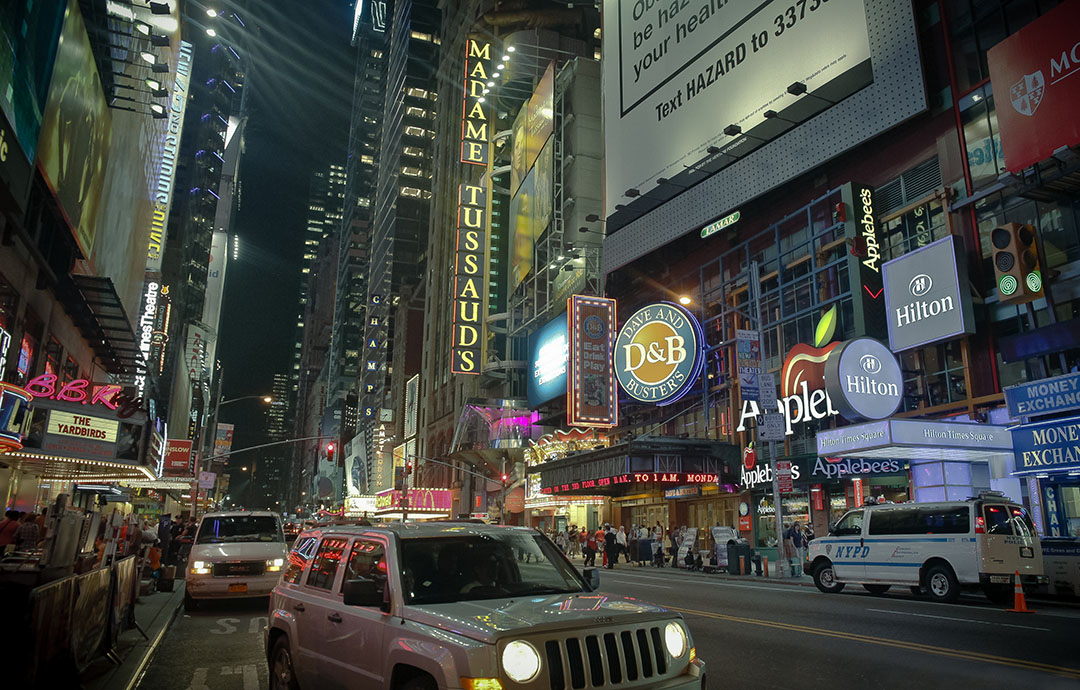 Broadway Times Square by night New York