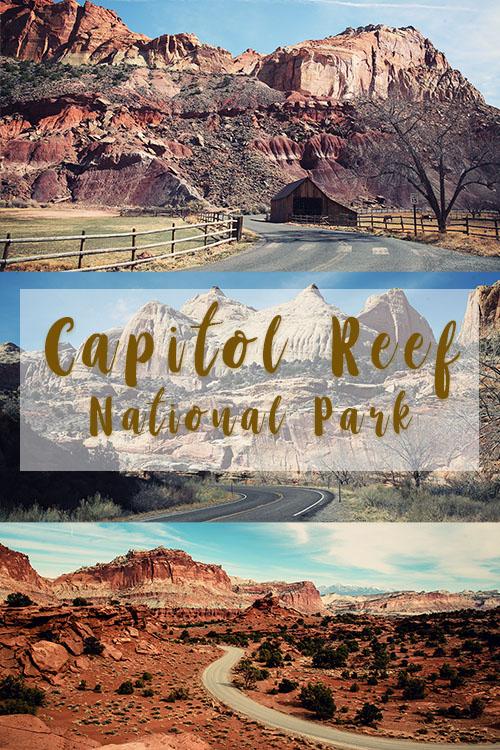 small Capitol Reef National Park Utah USA Road trip Fruita