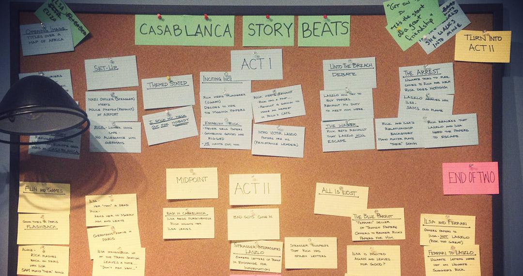 Casablanca story beats exposition exhibition warner bros studios tour hollywood los angeles
