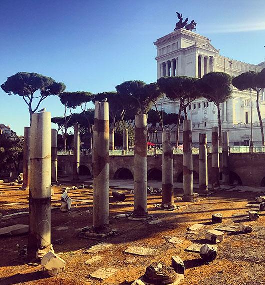 Colonnes forum trajan rome italie