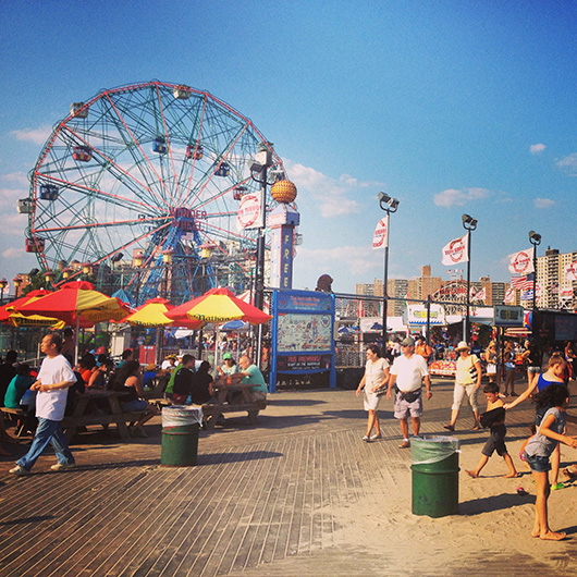 Coney Island New York Brooklyn Luna Park beach
