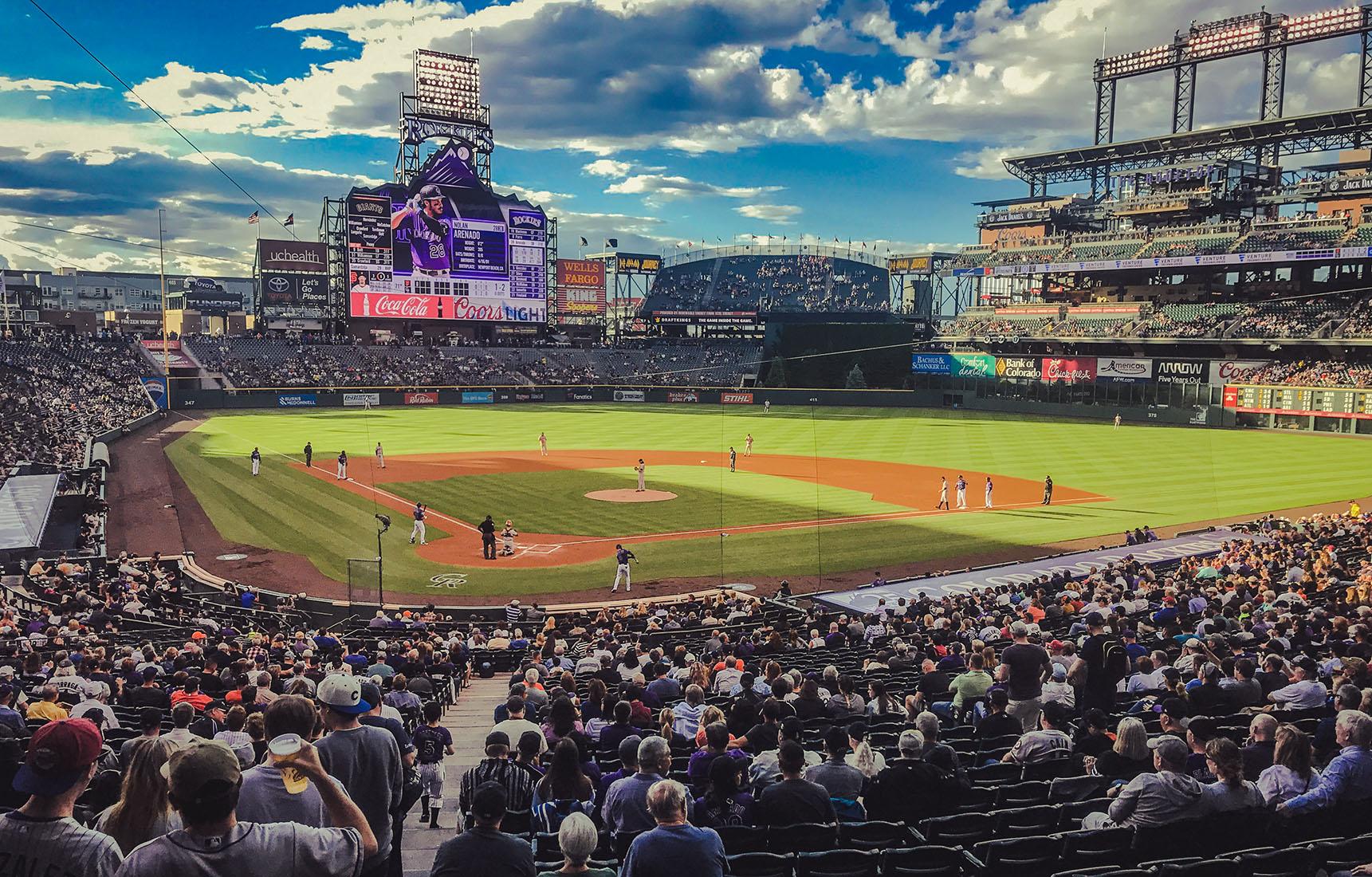 Colorado Denver Baseball Rockies road trip itinéraire