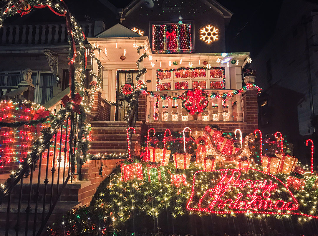 Dyker Heights Brooklyn New York Maisons décorées Noël