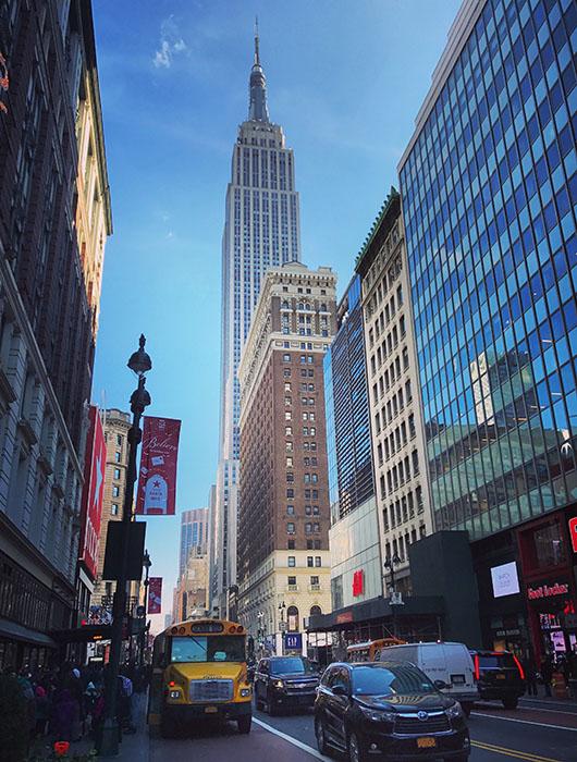 Empire State Building New York Manhattan street