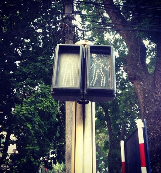 Feux piétons signalisation hanoi vietnam