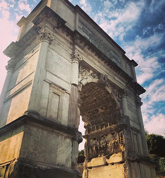 Forum rome italie arc de triomphe