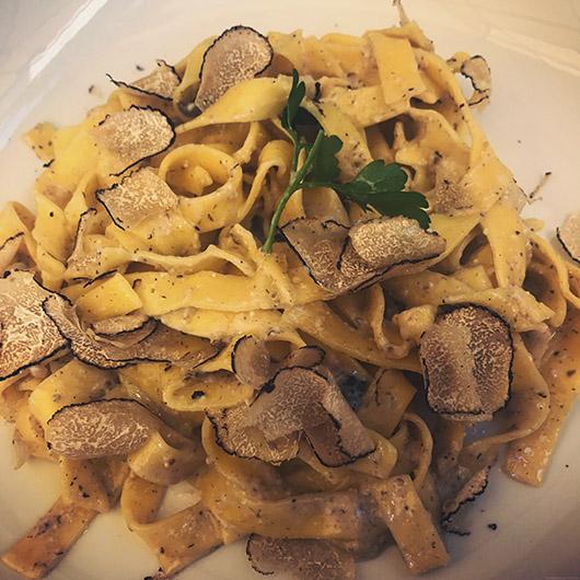 Gastronomie italie toscane restaurant conseil truffe pasta