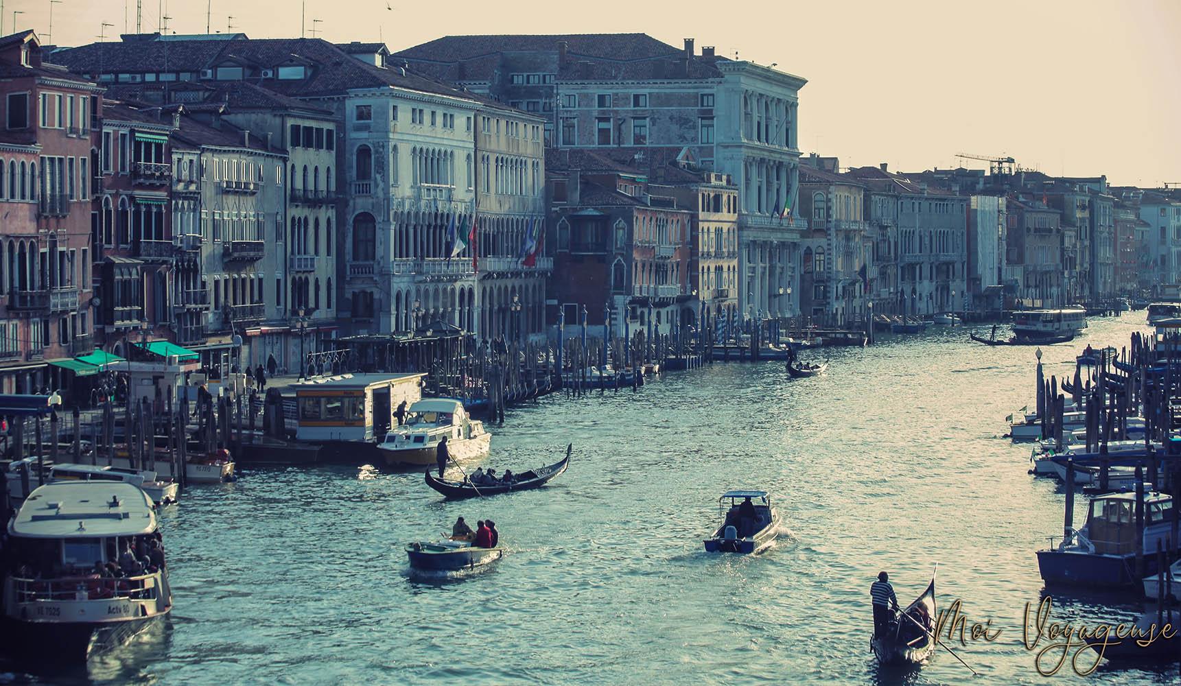 Grand Canal de Venise Italie Europe Rialto