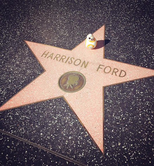 BB8 Harrison Ford hollywood boulevard star wars los angeles