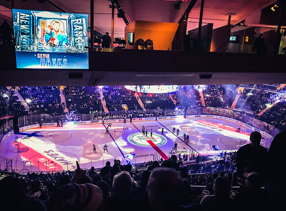 Hockey Match Madison Square Garden New York Rangers
