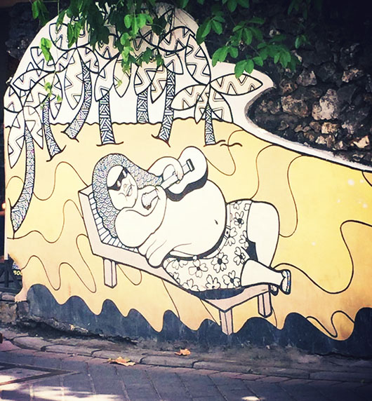 Kuta beach bali street art