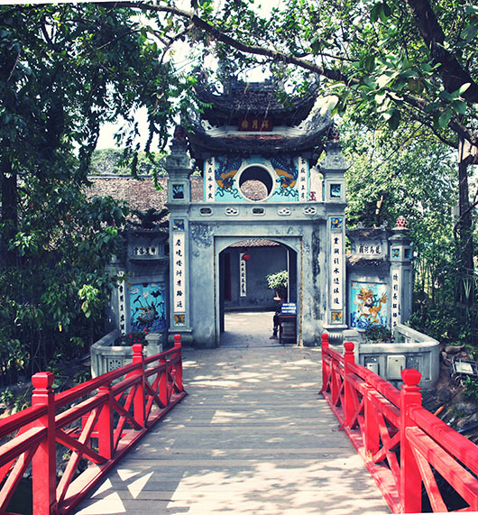 Lac Hoan Kiem vietnam hanoi pont the huc temple de jade