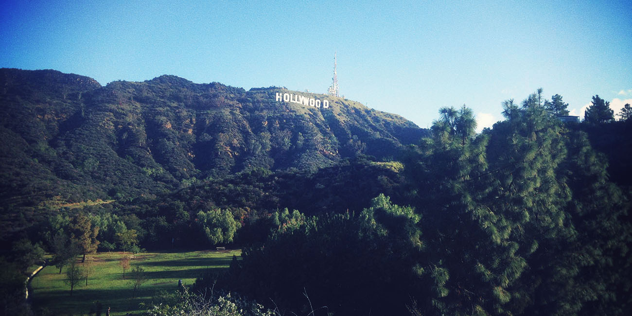 Hollywood sign hill Los Angeles California