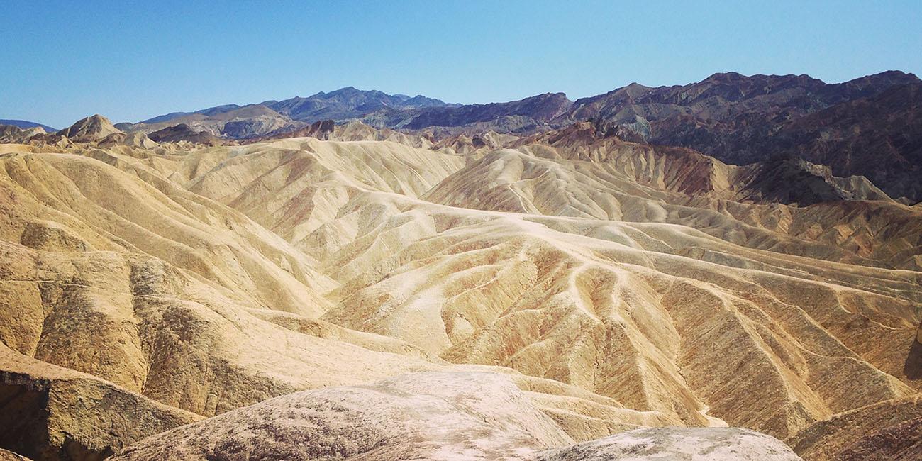Zabriskie Point Vallée de la mort Californie Death Valley National Park