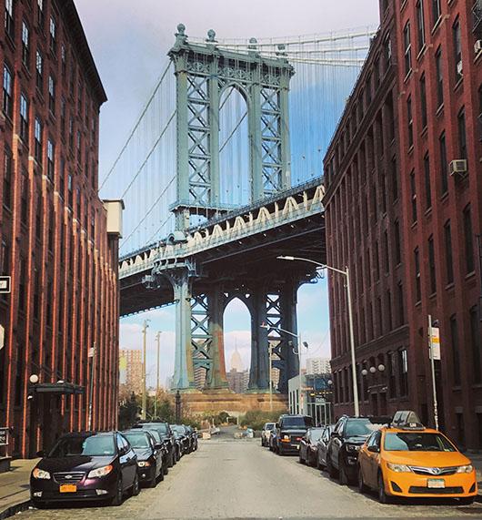 Manhattan Bridge New York View Vue Brooklyn street