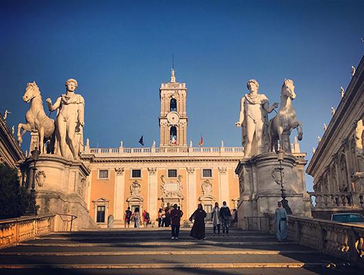Michael ange escaliers place colline rome italie
