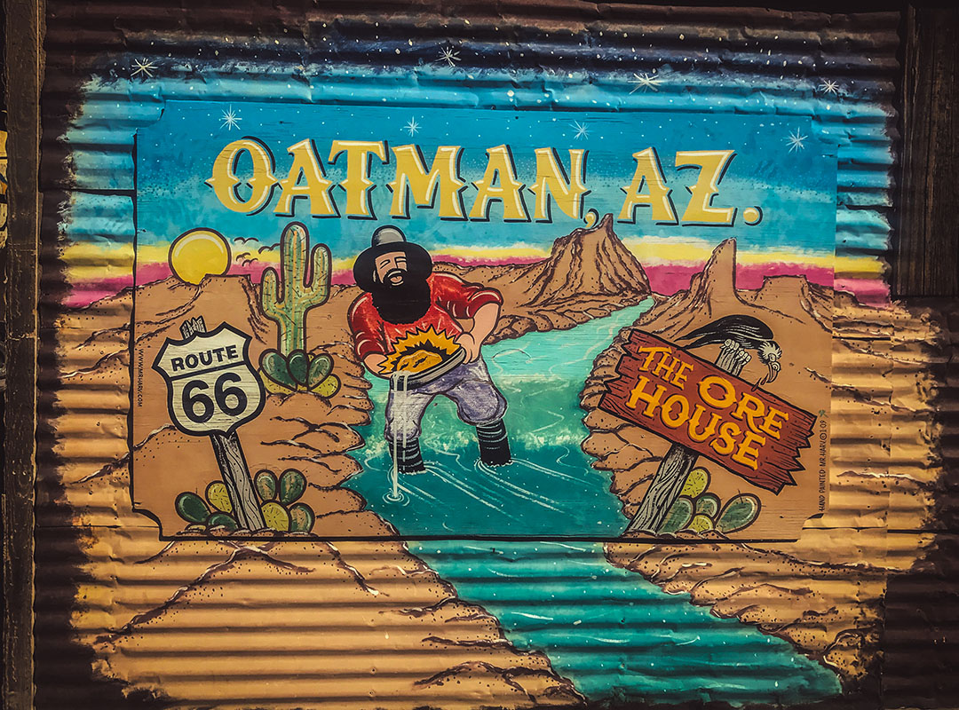 Oatman Arizona Road Trip Route 66 USA