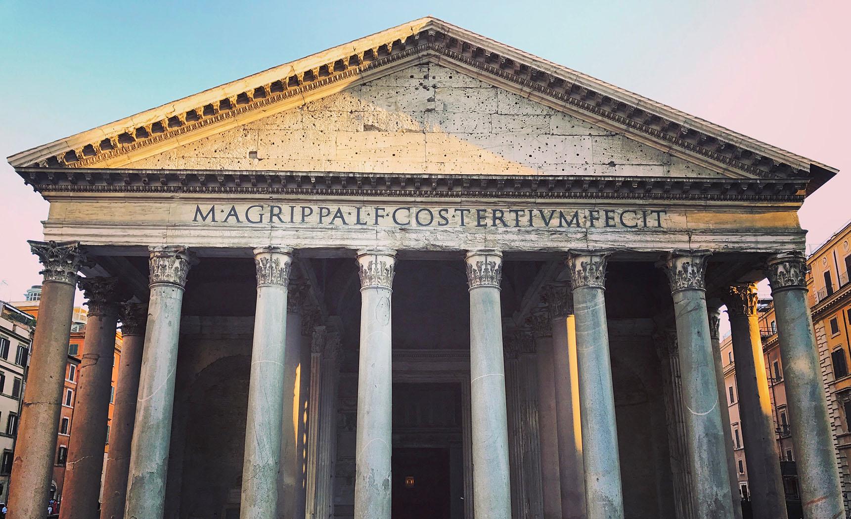 Pantheon Exterieur Roma Rome Italie Italy Italia