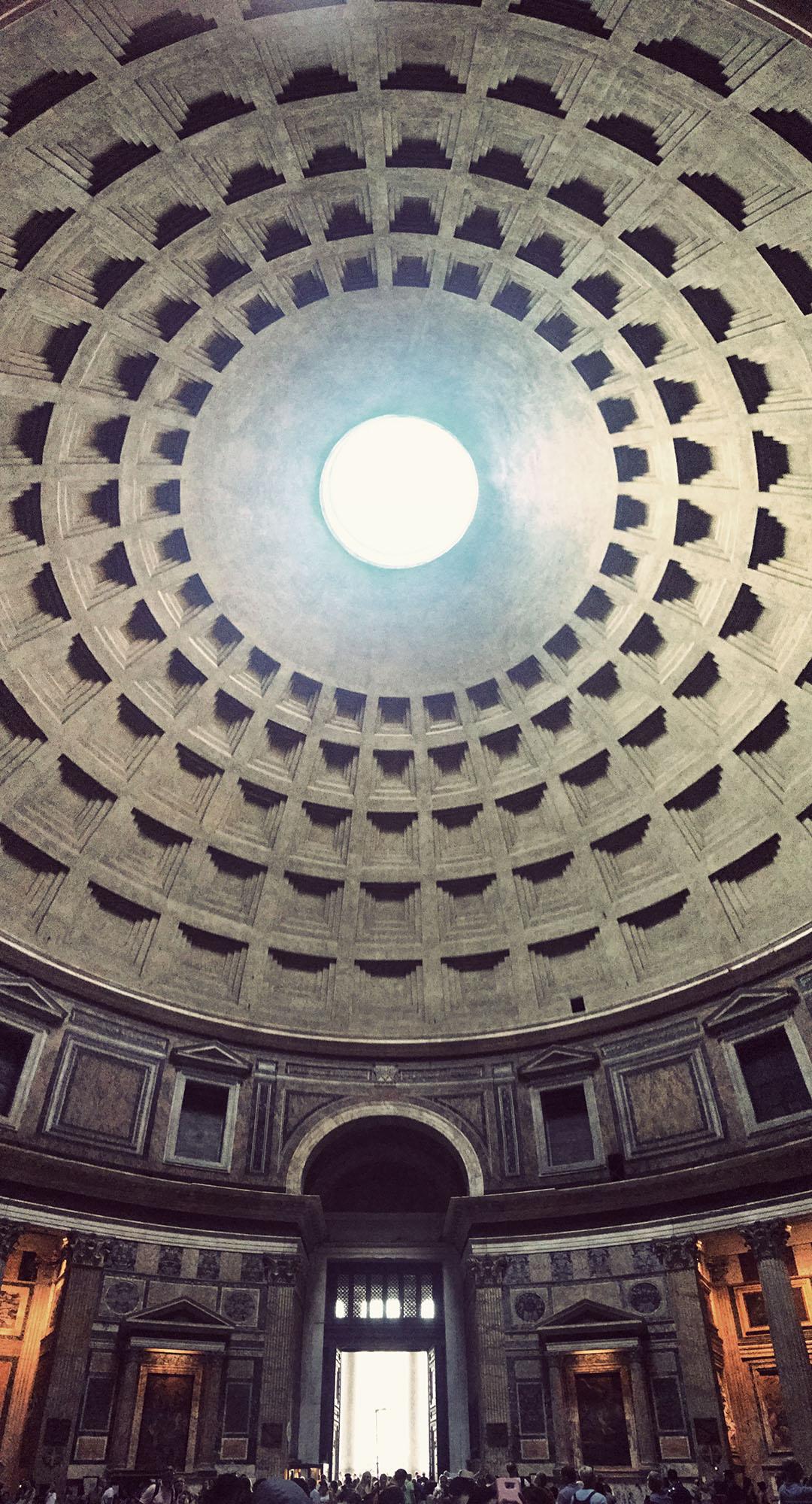 Pantheon Plafond Roma Rome Italie Italy Italia