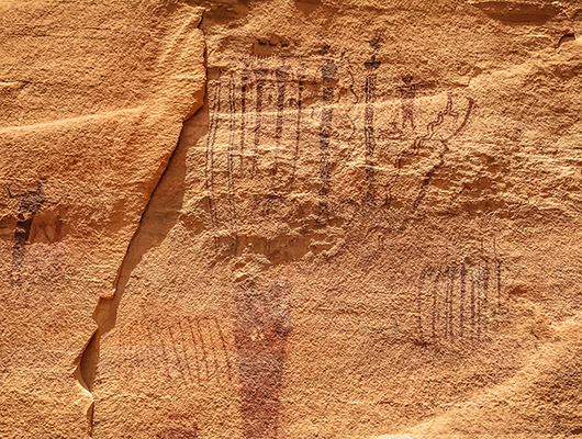 Little Grand Canyon Utah road trip USA Petroglyphes Buckhorn Wash