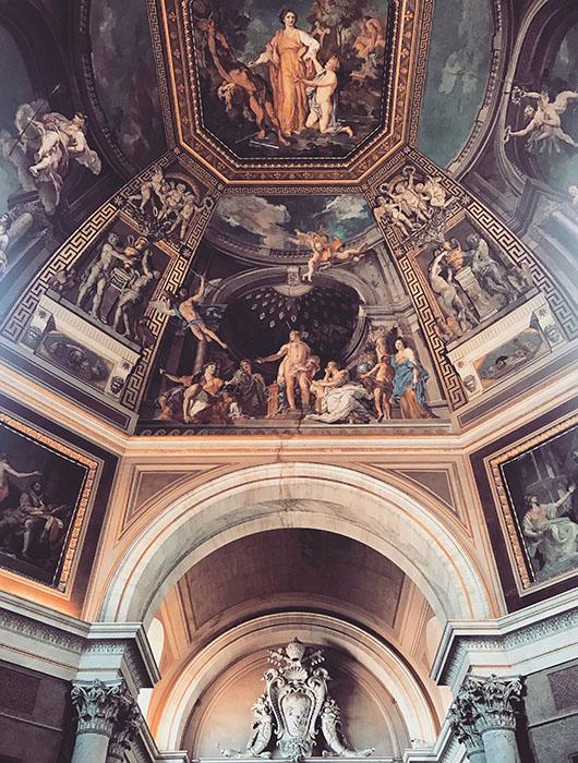 Plafond musées du vatican rome italie