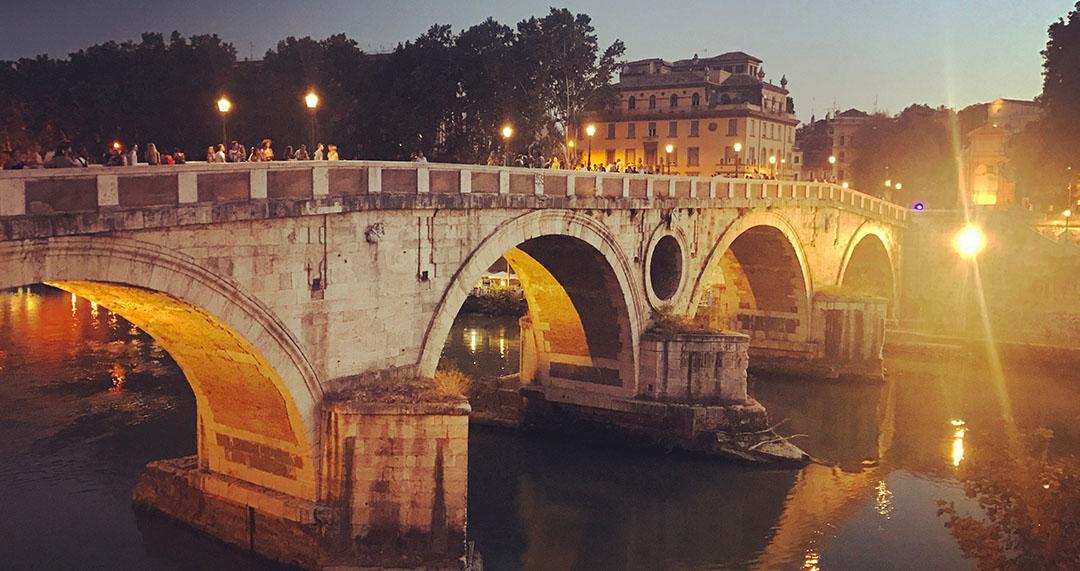 Ponte Sisto by night Roma Rome Italie Italy Italia