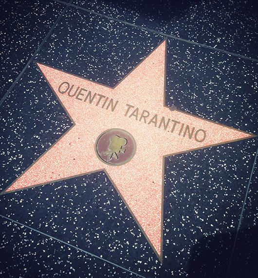 Quentin tarantino star on hollywood boulevard los angeles