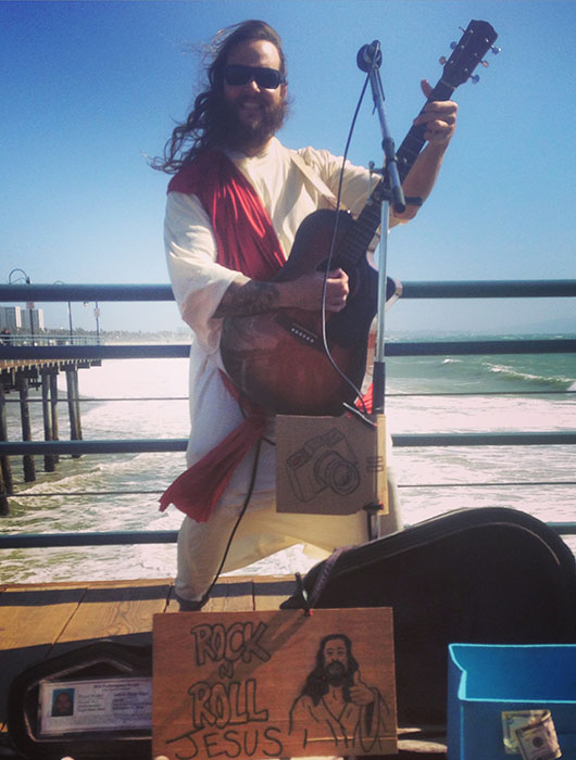 Rock n Roll Jesus Santa Monica pier los angeles california