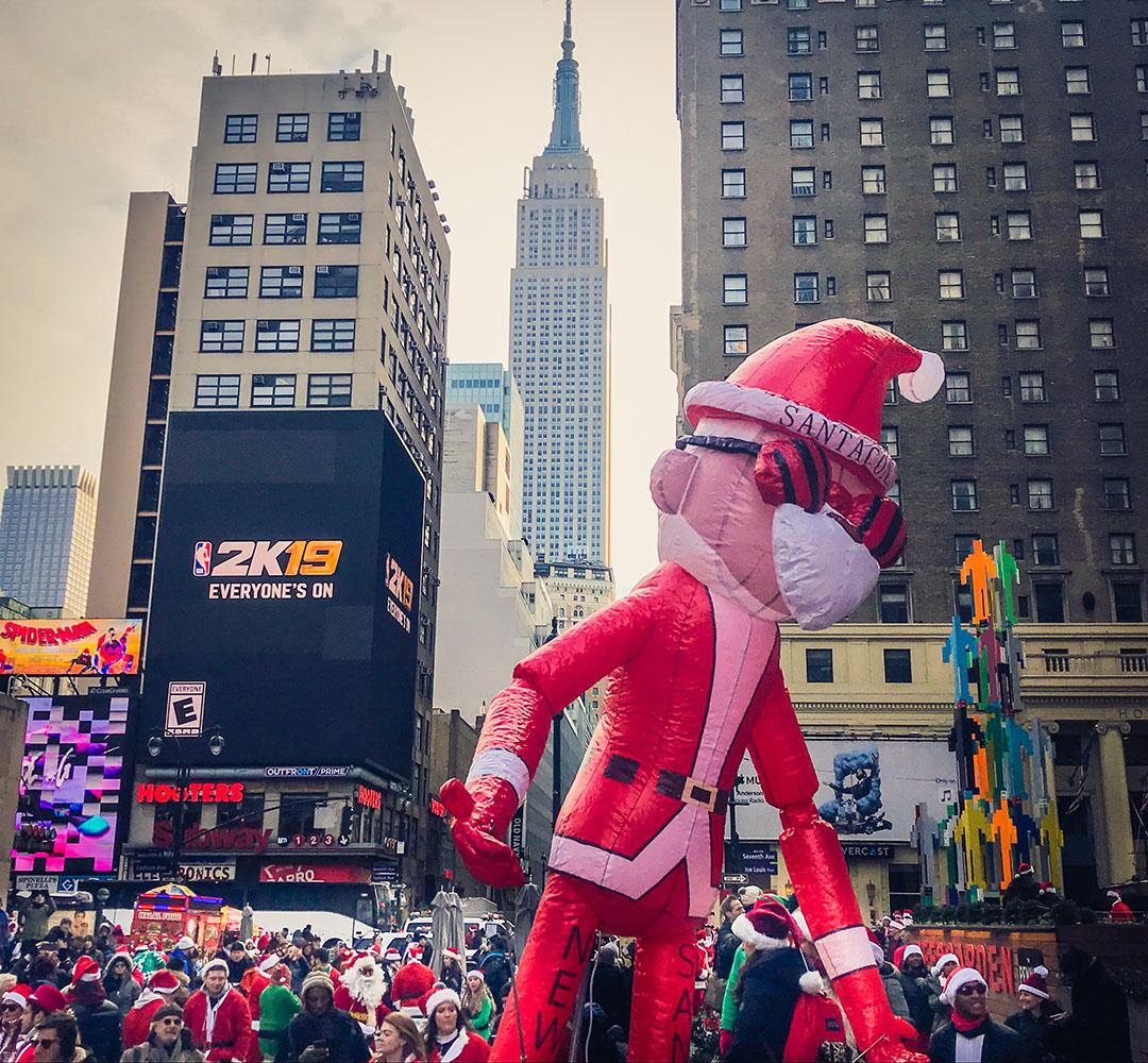 Santa Con New York Noel