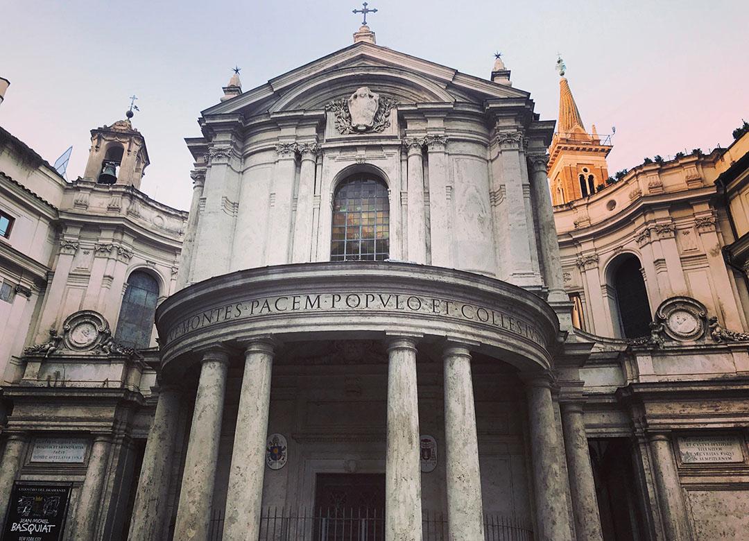 Santa Maria della pace rome italie