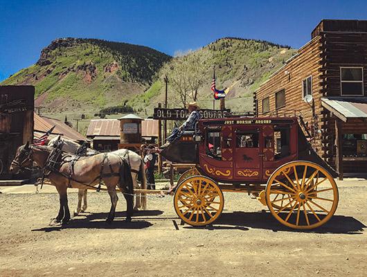 Colorado Million Dollar Highway Silverton Ouray road trip itinéraire