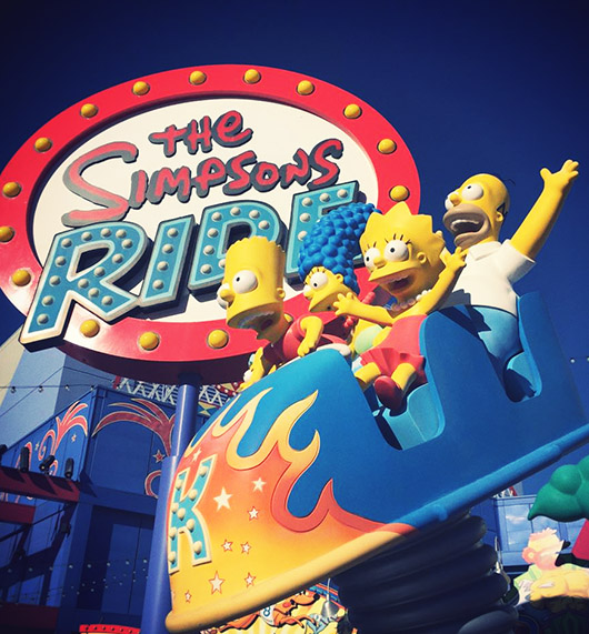 Simpsons The Ride Universal studios hollywood los angeles