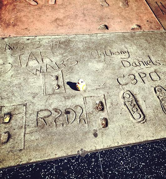 Star Wars Hollywood boulevard bb8 los angeles