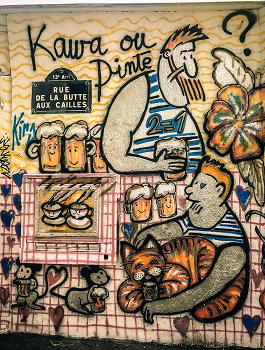 Street art Paris Sentier de grande randonnée butte aux cailles
