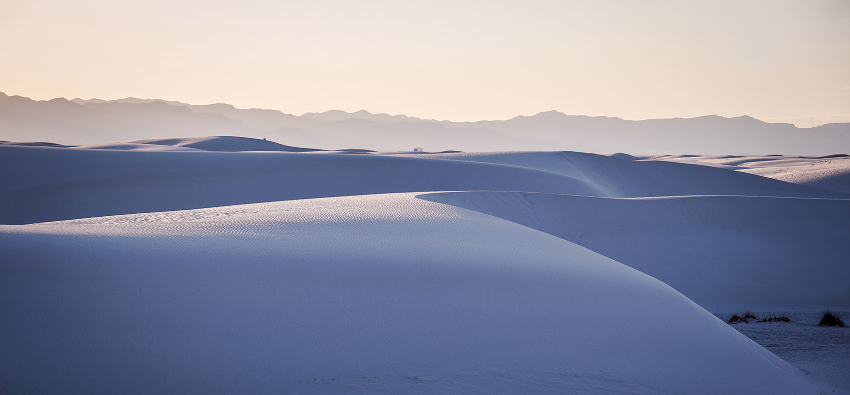 White Sands national monument New Mexico USA Road trip Sunset