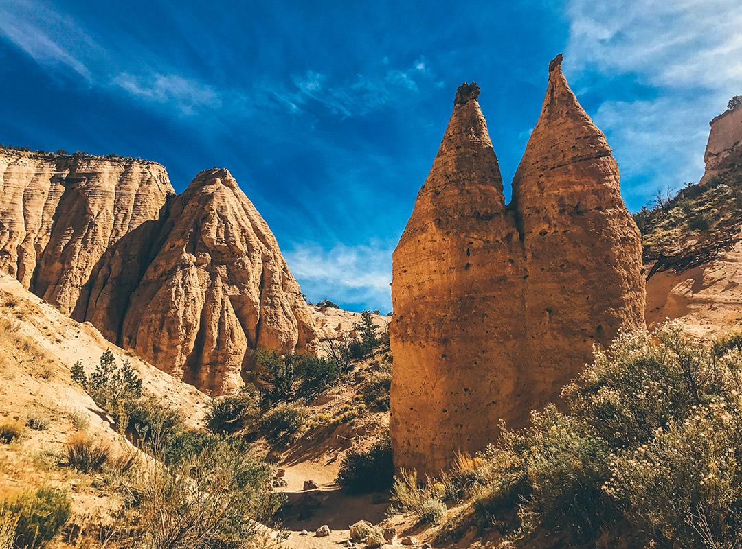 Kasha Katuwe Tent Rocks National Monument Nouveau Mexique Road Trip USA Slot Canyon trail
