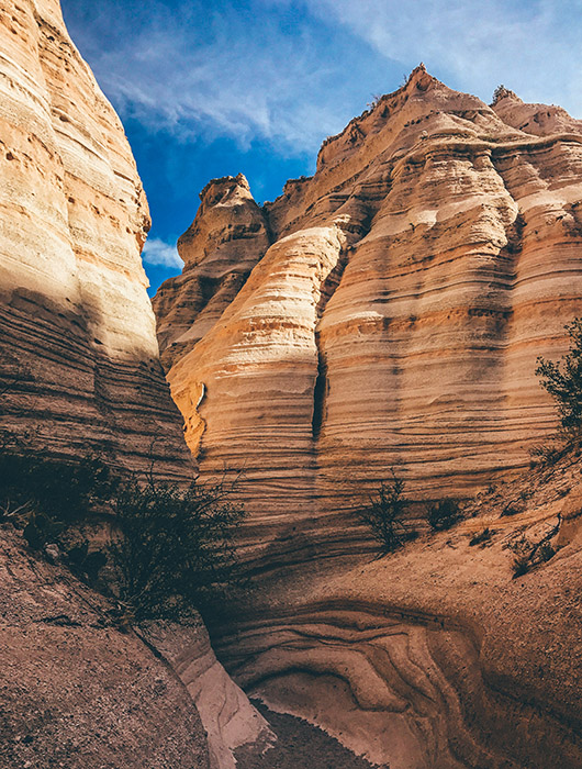 Kasha Katuwe Tent Rocks National Monument Nouveau Mexique Road Trip USA Slot Canyon trail