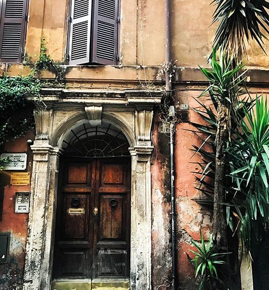 Trastevere Quartier Rome Italie Porte