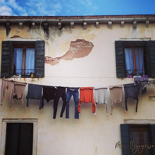 Venise Italie vêtements accrochés