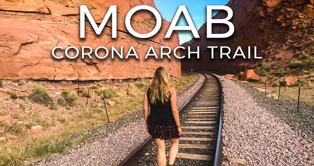 corona arch trail moab utah road trip usa video vlog