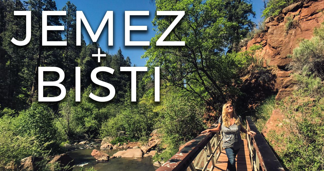 Video Bisti Badlands Jemez Mountains road trip New Mexico USA