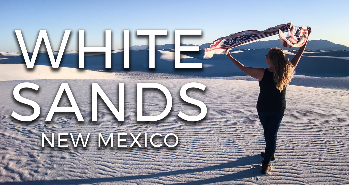 White Sands national monument New Mexico USA Road trip Sunset video vlog voyage travel