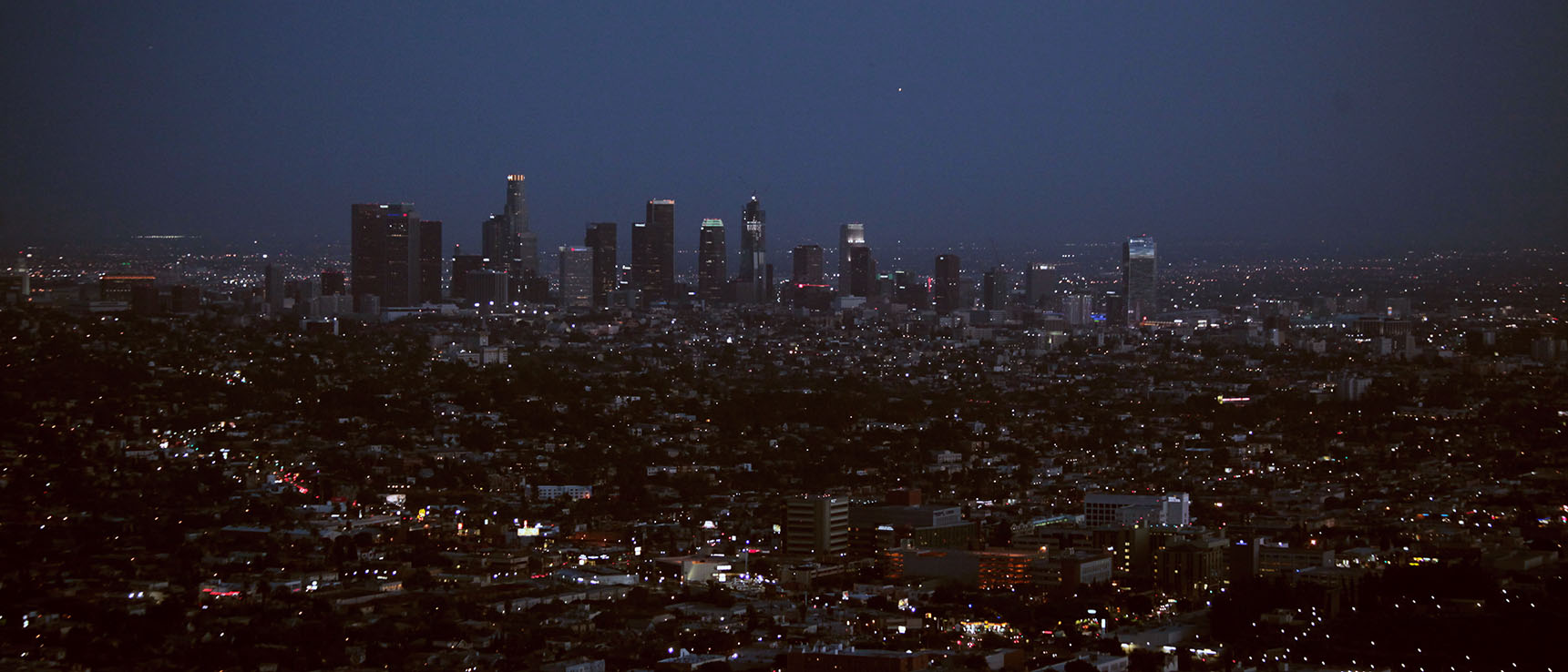 View from griffith observatory by night skyline