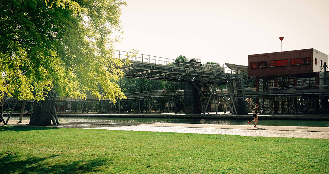 Parc de la villette Paris Sentier de grande randonnée