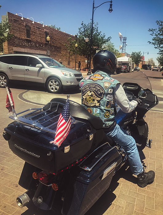 Winslow arizona take it easy the eagles road trip route 66 USA